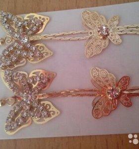 Серьги - бабочки на выпускной или свадьбу
