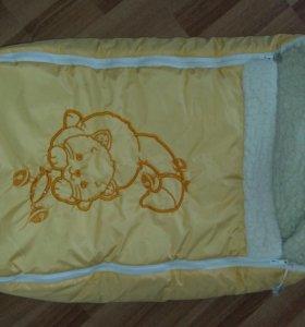 Зимний конверт на овчине