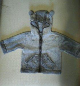 Кофта-куртка 5-9мес. Ушки-мишки!