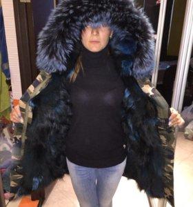 Парка зимняя куртка с мехом