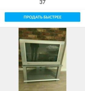 Телевизор philips с тумбой.диагональ 104