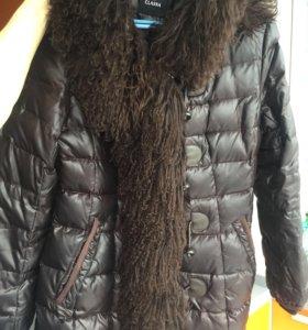 Пуховик-пальто с натуральным мехом