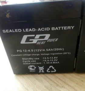 Аккумулятор 12v 4.5 аh