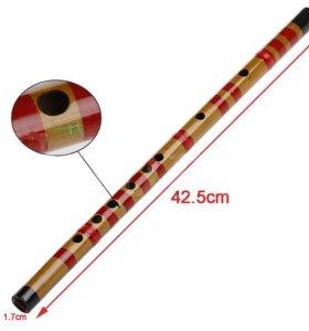 Традиционная Длинная Бамбуковая Флейта Кларнет