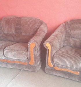 Мягкая мебель (диван-канапе + кресло)