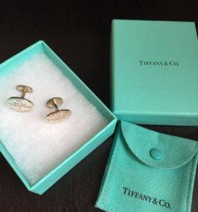 Запонки Tiffany серебро оригинал