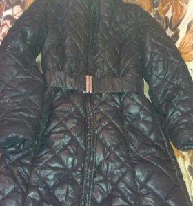 Стёганое пальто-пуховик
