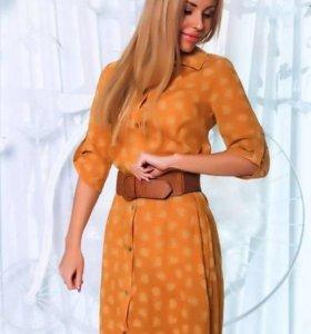 Классическое платье-рубашка, Украина, разм-46