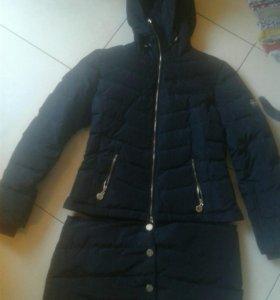 Пуховик-трансформер 2в1 куртка и пальто