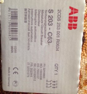 s203c63 ,  с50 - abb автоматический выключатель