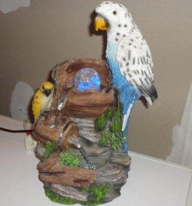 фонтан попугайчики