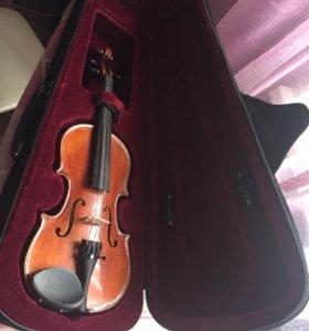 Скрипка 1/8 +смычок+футляр+мостик