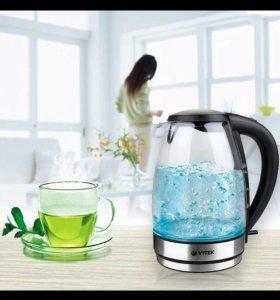Новый чайник с гарантией Vitek с подсветкой