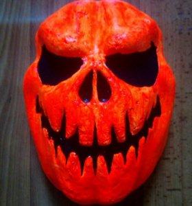 Маска на хеллоуин ручная работа