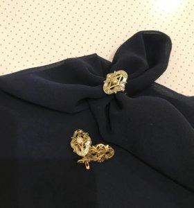 Комплект золотой «Бочонок» с бриллиантами