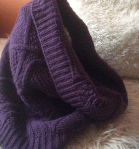 Капор  снуд  хомут шапка труба шарф