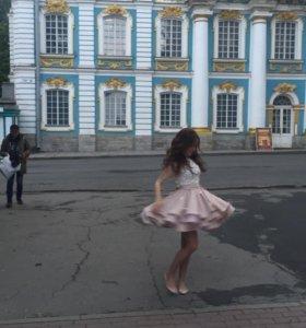 Платье выпускной «золотой песок»