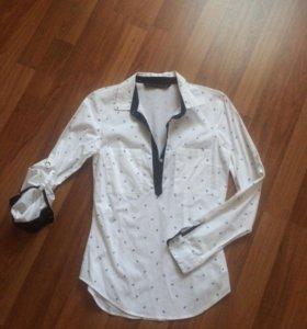 Рубашка zara р.42