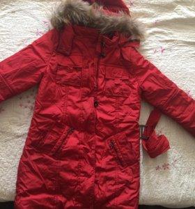 Пальто-пуховик на девочку от 10 лет