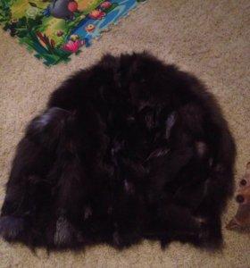 Шубка. Чернобурая лисица.