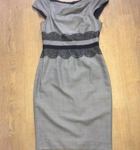 Платье серое женское