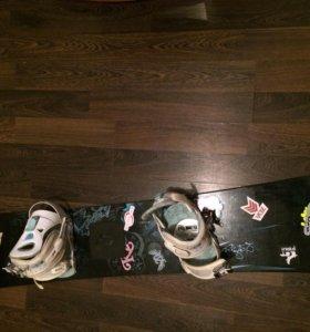 Продам сноуборд с креплениями