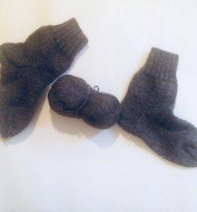 Вязанные носки ручной работы