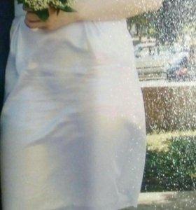 Белое  платье- сарафан