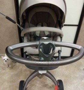 коляска stokke Xplory v4 3в1 в идеальном состоянии