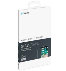 Защитное стекло для iPhone X Deppa Tempered Glass