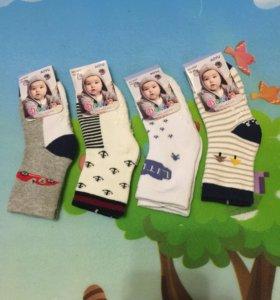 4 пары тёплых махровых носков