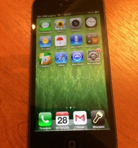iPhone 5 16Gb черный iOS 6.1.4