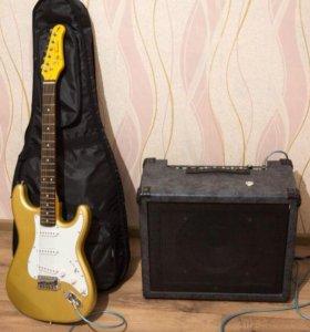 Продам гитару Jai Turser JT-300shg + зимний чехол