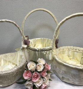 Свадебные корзины ручной работы