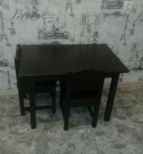 Стол и 2 стула IKEA Сундвик