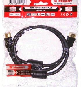 HDMI кабель Rexant Gold с фильтрами 1 метр новый
