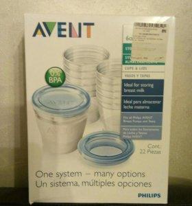 Контейнеры для хранения грудного молока Авент