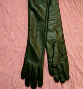 Новые длинные кожаные перчатки.