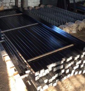 Столбы для забора готовые металлические