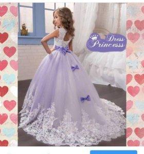 Шикарное детское нарядное платье для принцессы