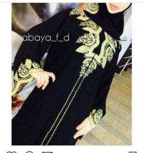 Платье абайа с шарфом