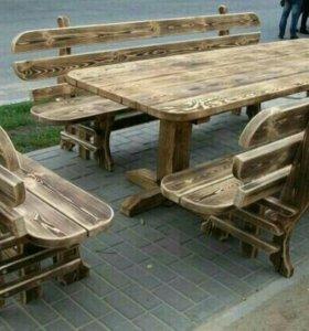 Стол с скамейками