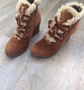 Ботинки натуральная замша осенние teenmix