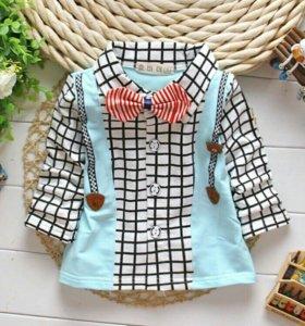 Рубашка для мальчика с бабочкой (1- 1,5 года)