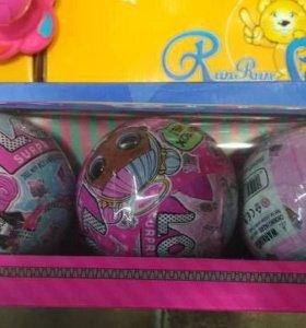 Кукла-сюрприз Lol(Лола) в шаре, набор из 3 штук