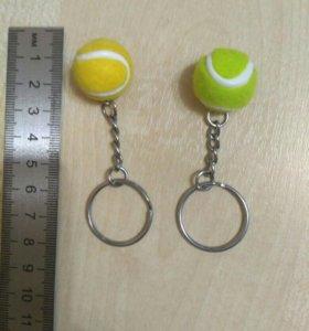 Брелочки мяч теннисный, ручки ракетки