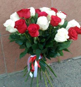 Розы букет 25 шт.