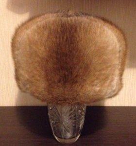 Норковая новая мужская шапка