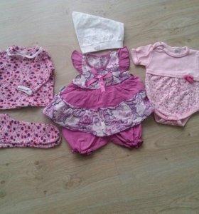 Одежда для девочки от 0 до 2 месяцев