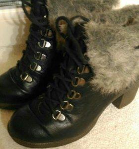 Зимние/демисезонные ботинки 36,5-37